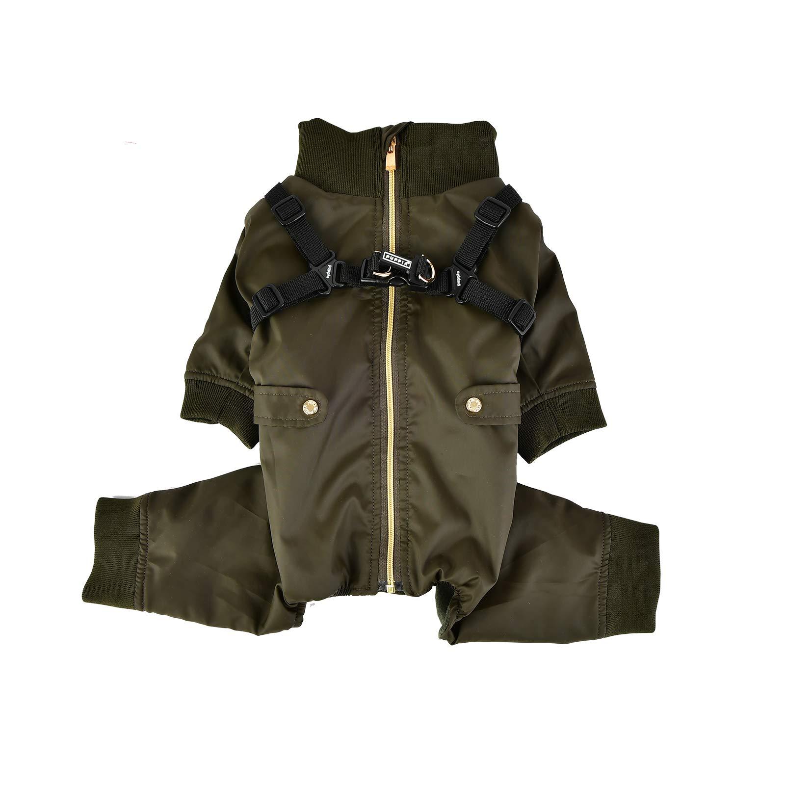 Puppia PLSD-JP1663-KH-L Garnet Pet Coat, Khaki, Large
