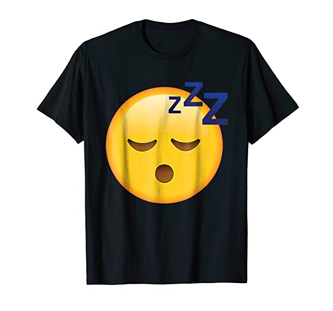 Mens Sleeping Emoji T-shirt Emoji Pijama Party Emoticon T-Shirt 2XL Black