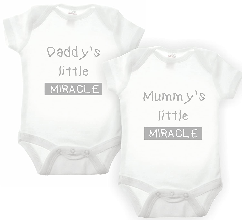f7523e62e Bullshirt s Little Miracle Double Pack Babygrow (0-3 MTHS