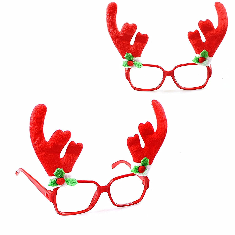 Christmas Glasses Frame Xmas Decoration Novelty Fancy Dress Santa Snowman Xmas