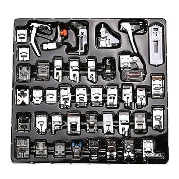 Demiawaking 42 Tipos Pie Prensatelas de Máquina de Coser,Accesorios de Coser Multifuncionales: Amazon.es: Hogar
