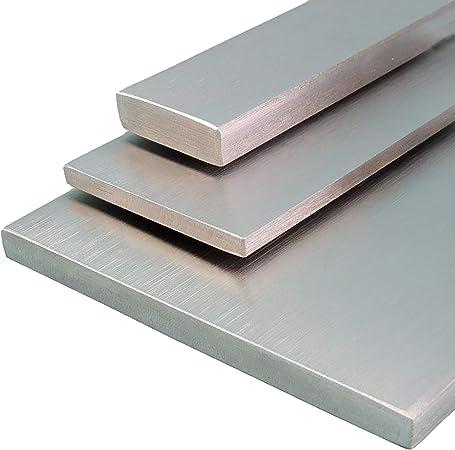 L/änge 1500 mm Abmessungen 20 x 5 mm Edelstahl Flachstahl V2A Oberfl/äche geschliffen FRACHTFREI Korn 240