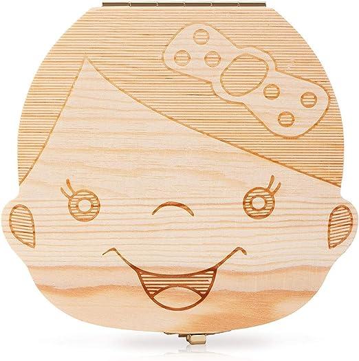 EPRHY - Caja de Madera para Guardar los Dientes de los niños ...