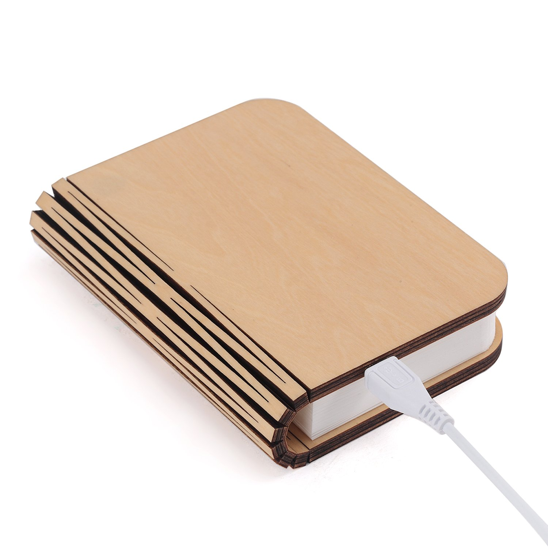 Lampen bücher usb akku klappbar aus holz amazon de elektronik