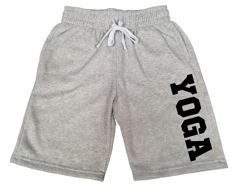 Mens Yoga V665 Gray Fleece Jogger Sweatpants Gym Shorts