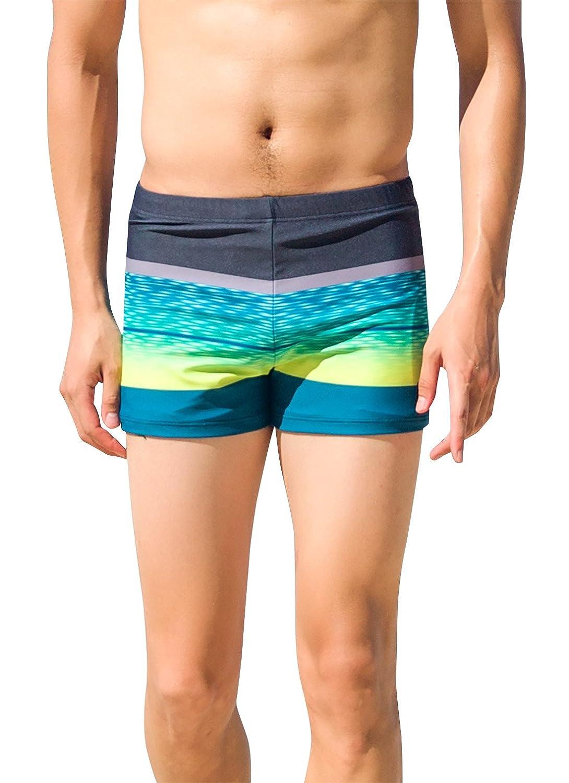 TALLA Talla ES M. SANQI Bañador de Hombre Pantalones de Natación Boxer Estampadp Multicolor para Playa Viaje Surf Nadar