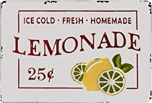 TISOSO Ice Cold Fresh Lemonade Retro Vintage Metal Tin Sign Kitchen Coffee Bar Signs Country Home Decor 8X12Inch