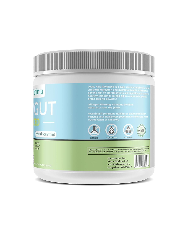 Amazon.com: 【Flora Optima】Leaky Gut Advanced (Polvo ...