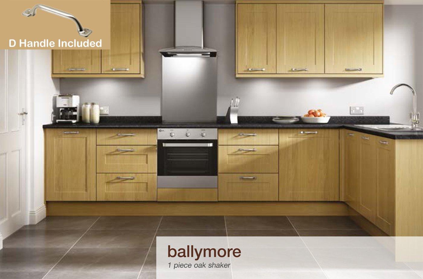 Ballymore Shaker Oak Kitchen Units 3m Cornicepelmet
