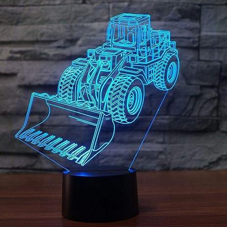 orangeww Lámpara de ilusión LED 3d Luz nocturna/excavadora Lámpara ...
