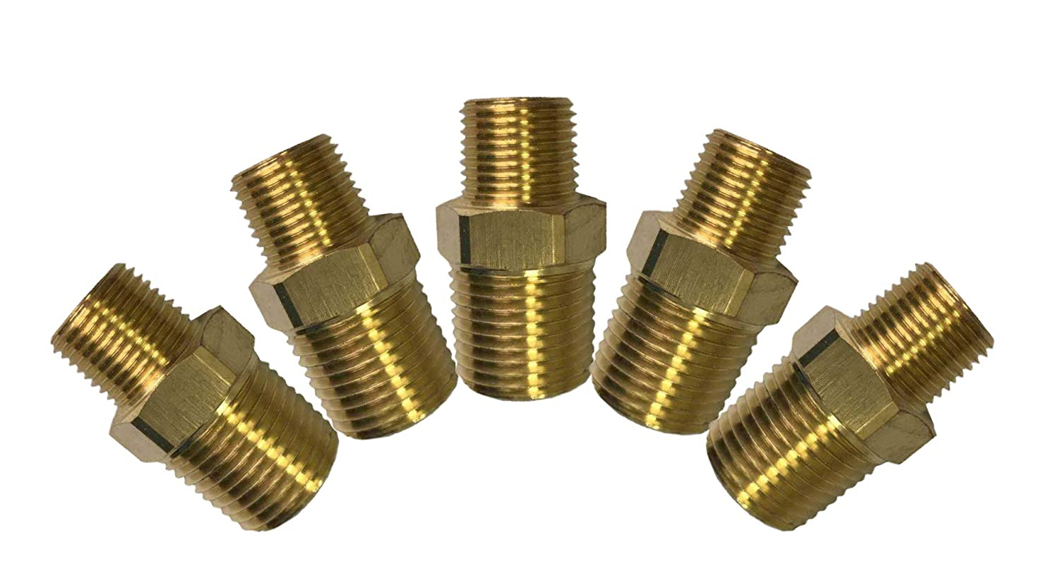 "5 x New Brass Pipe Fitting 1//2/"" x 3//8/"" Female NPT Reducing Coupling Water Boat"