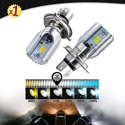 H4 LED COB BOMBILLA PARA MOTO LUZ DE CRUCE Y DE CARRETERA COB 1000 LM 6000 K XENON BLANCO PARA FARO