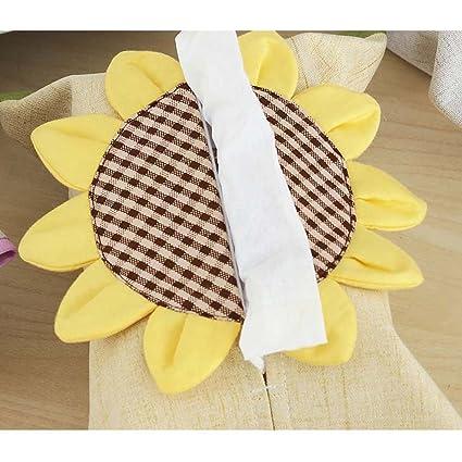 Portapañuelos de papel Caja de toalla de coser Creative coche de sala de estar encantadora con bolsa de papel de algodón toalla simple hecho a mano TANG ...