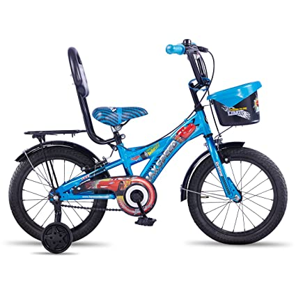 Buy Hero Disney 16T Cars Junior Cycle With Carrier 8.5-inches (Blue ...