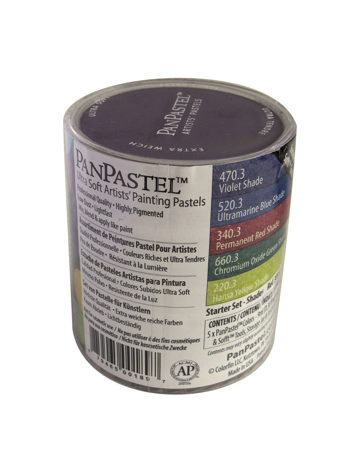 Panpastel 9-Milliliter Ultra Soft Artist Pastel Set, Shades, 5-Pack