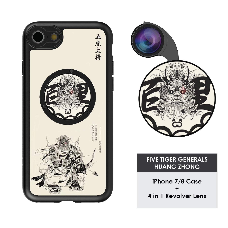 Funda y 4  Lentes Ztylus Revolver p/ iPhone 7/8 - Huang Z...