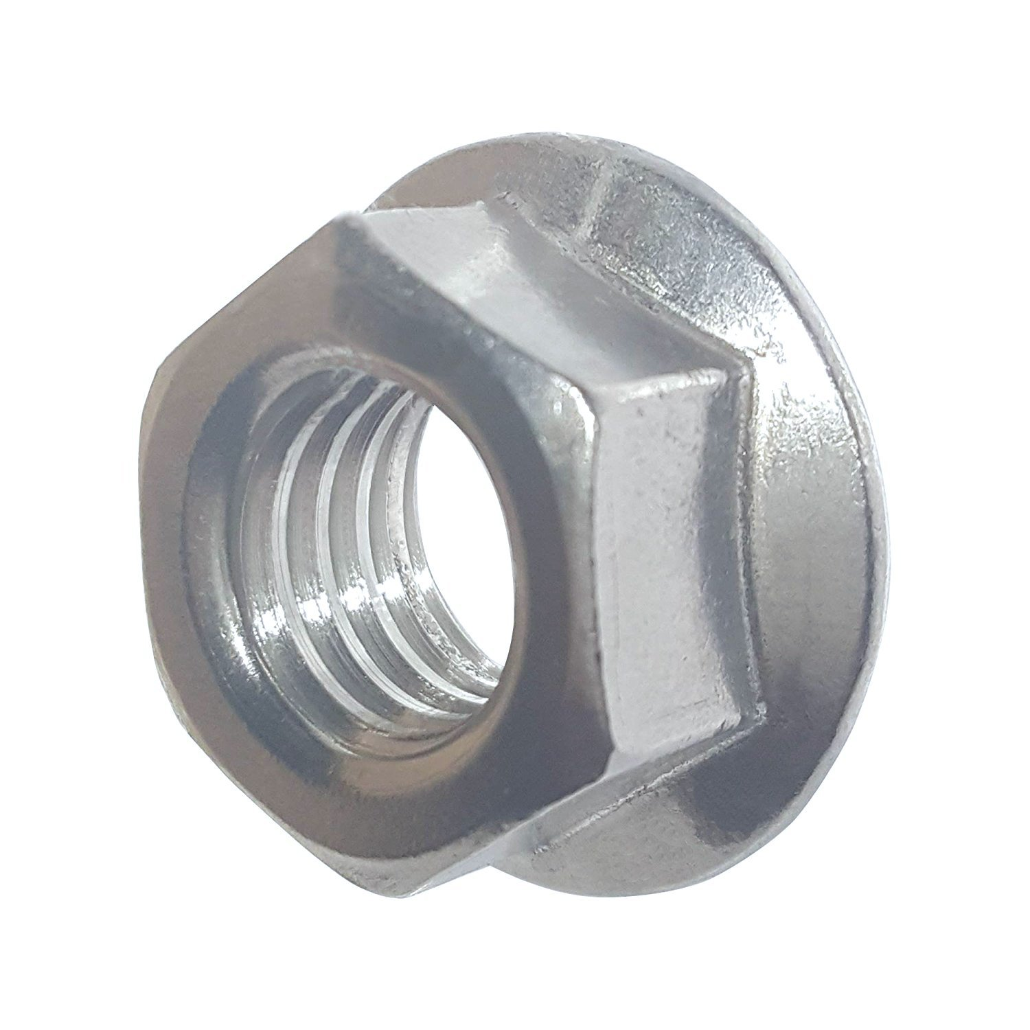 10-24 Zinc Plated Serrated Flange Hex Lock Nuts Fifty BCP267 50