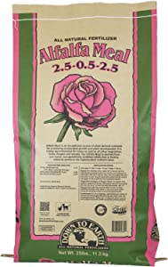 Down To Earth Organic Alfalfa Meal Fertilizer Mix 2.5-0.5-2.5, 25 lb