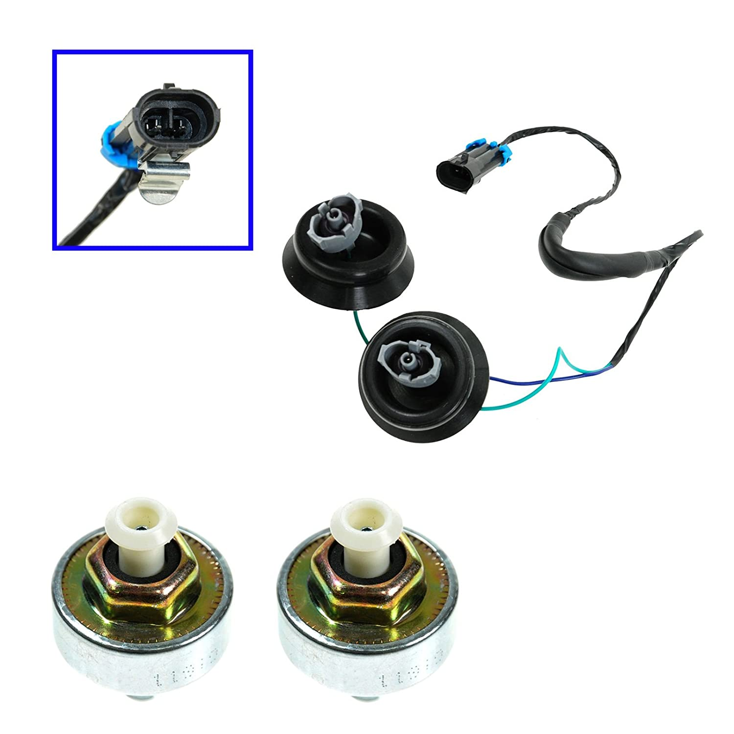 Knock Sensor With Harness Pair Kit Set For Chevy Gmc S10 Tbi 2 5 Wire Diagram Silverado Sierra Cadillac Automotive