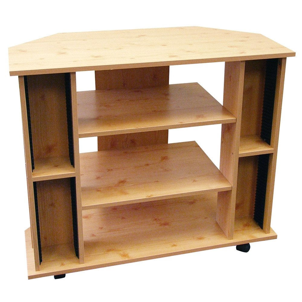 ORE International Corner TV Stand Natural Color