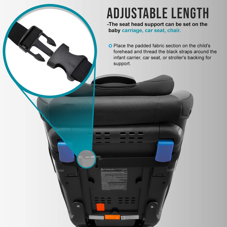 MV Essentials soporte para la cabeza Correa ajustable para asiento de coche para beb/és
