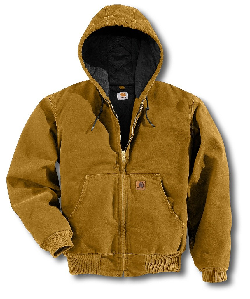 Carhartt Men's Quilted Flannel Lined Sandstone Active Jacket J130,Brown  (Closeout),Medium