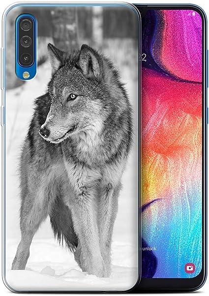 Coque pour Samsung Galaxy A50 2019 Animaux de Zoo Loup Désign ...