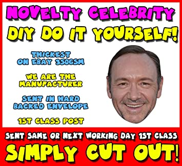 DIY - Do It Yourself Face Mask - Kevin Spacey (2) Celebrity