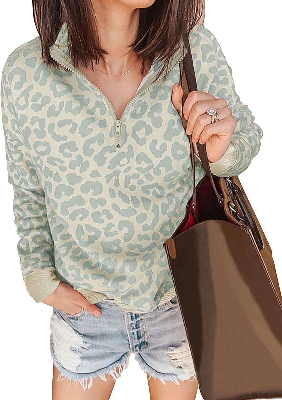 Smileyth Women Patchwork Hoodie Sweatshirts Fuzzy Fleece Leopard Print Button Hem Plus Size Daily Loose Top Fall Winter Soft Comfortable Warm Blouse Sportswear