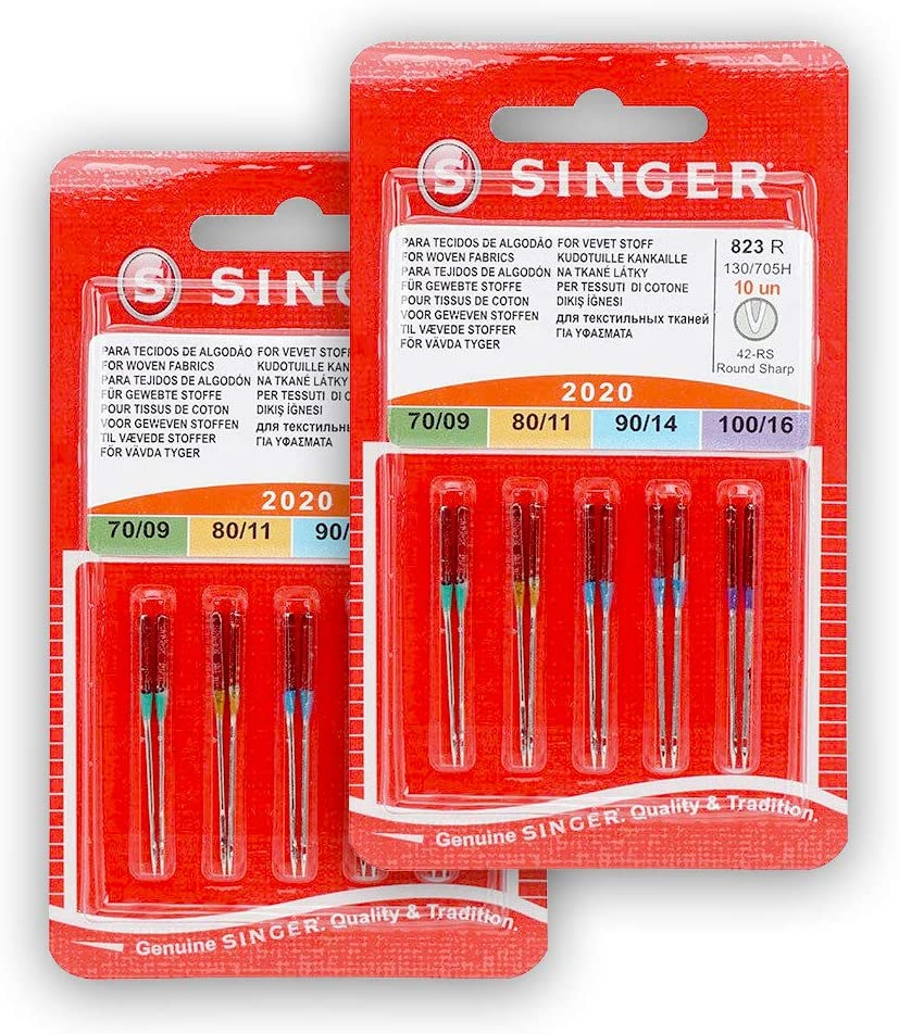 Singer Pack de 2 Paquetes de Agujas 2020 823R Surtido para Tejidos ...