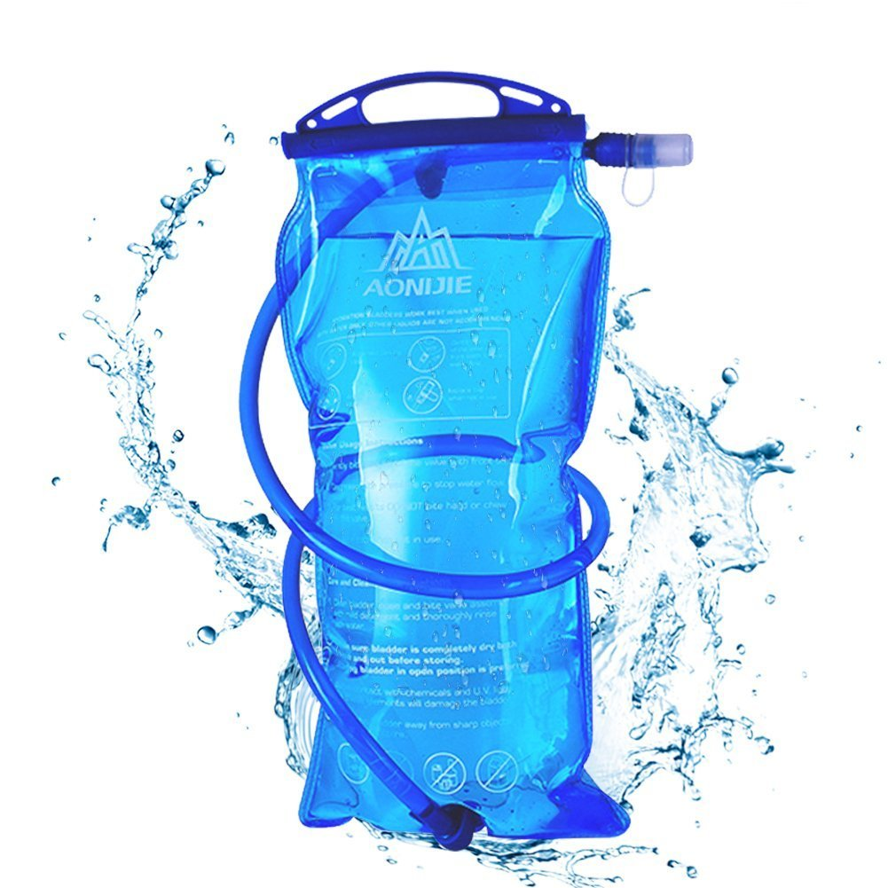 AONIJIE 1L/1.5L/2L/3L Bolsa de depósito de Agua de hidratación Bolsa sin BPA para Senderismo, Ciclismo, Escalada, Caza, Correr.