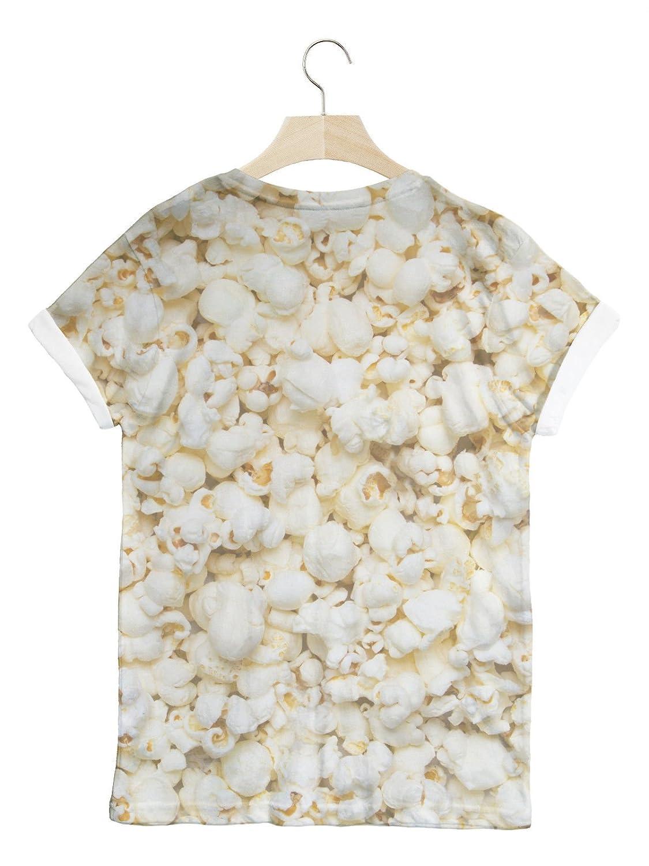 Batch1 Popcorn All Over Fashion Print Novelty Food Unisex T Shirt