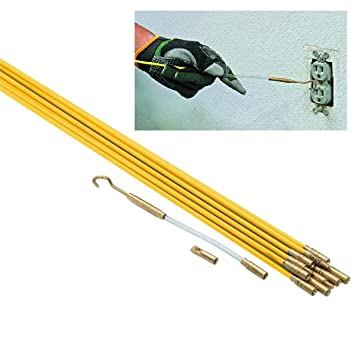 Running Wire Through Walls | New 33 Ft X 3 16 In Brass Connectors Fiberglass Wire Run Kit