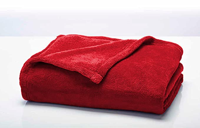 Today 232038 Couverture Moelleuse Polyester Pomme d'amour/Rouge 180 x 220 cm