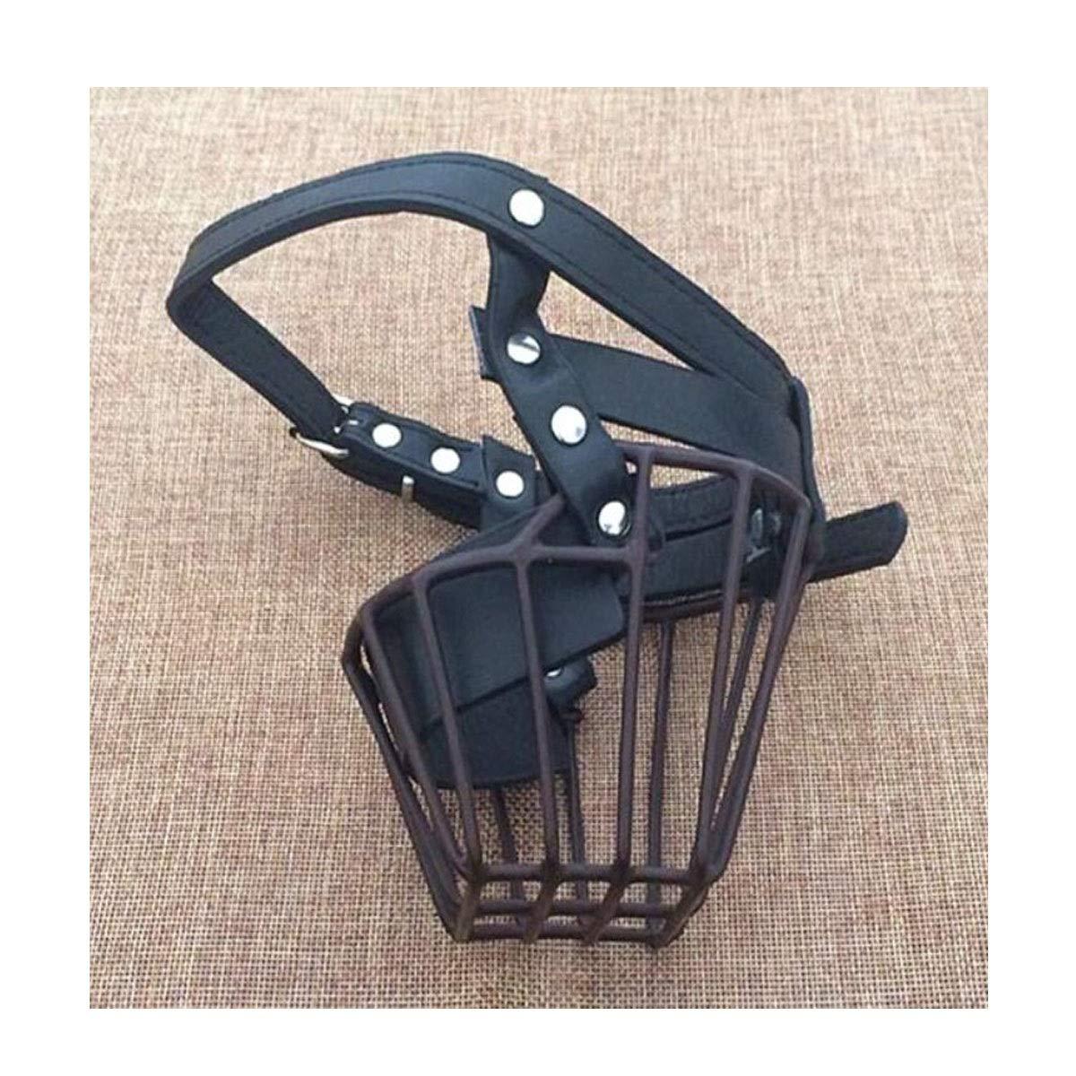Black XL Black XL Dog Mouth Cover, Anti-bite, Anti-Ingestion Dog Mask, Large Dog Leather Iron Mouth Cover, Black XL (color   Black, Size   XL)