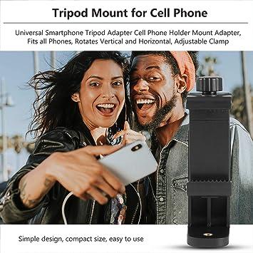 BIYI Clip de teléfono celular de montaje en trípode ajustable ...