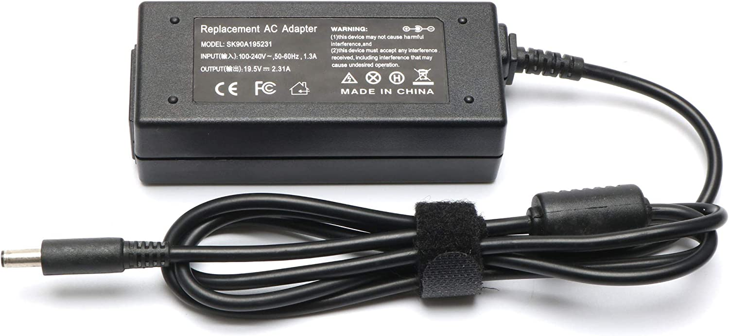 45W Laptop AC Adapter Replacement for DELL Inspiron 13 7000 Charger Inspiron 7352 7359 7368 7370 7375 7378 7386 7390 5368 Inspiron 15 5551 5552 5555 5558 5559 7568 Power Supply Cord Plug