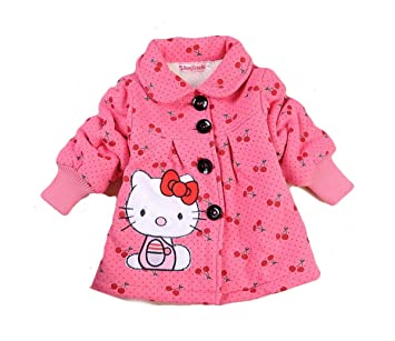 11bac1f9d Amazon.com: SOPO Hello Kitty Toddler Girls Winter Jacket 2-5Y Outerw ...