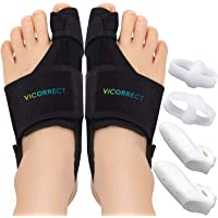Vicorrect Bunion Corrector & Bunion Toe Separators, Orthopedic Bunion Splint for Big Toe Pain Relief and Toe…