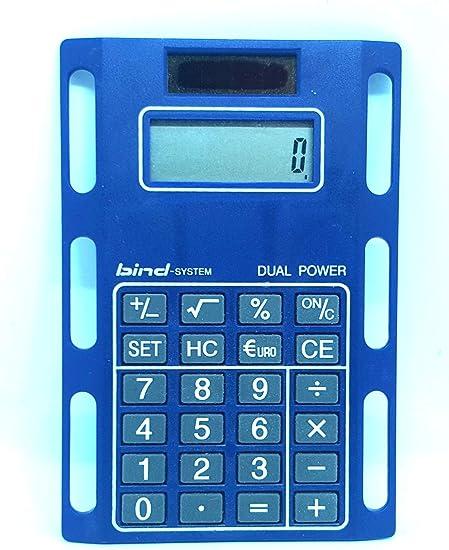Bind System Solar-Rechner BLAU Taschenrechner zum Einheften Kunststoff 1020-2