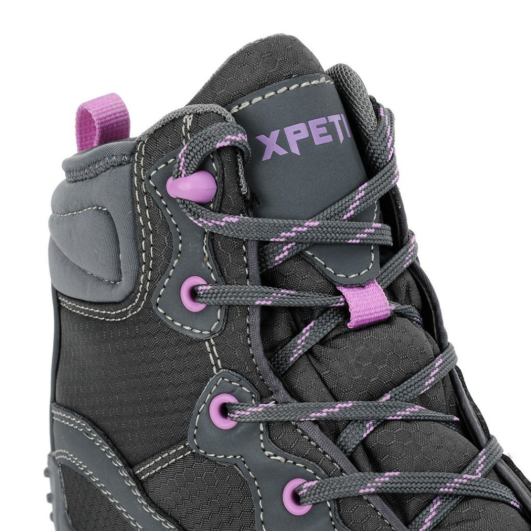 XPETI Women's Mid Waterproof Hiking Outdoor Boot (6 B(M) US, Gray) by XPETI (Image #9)