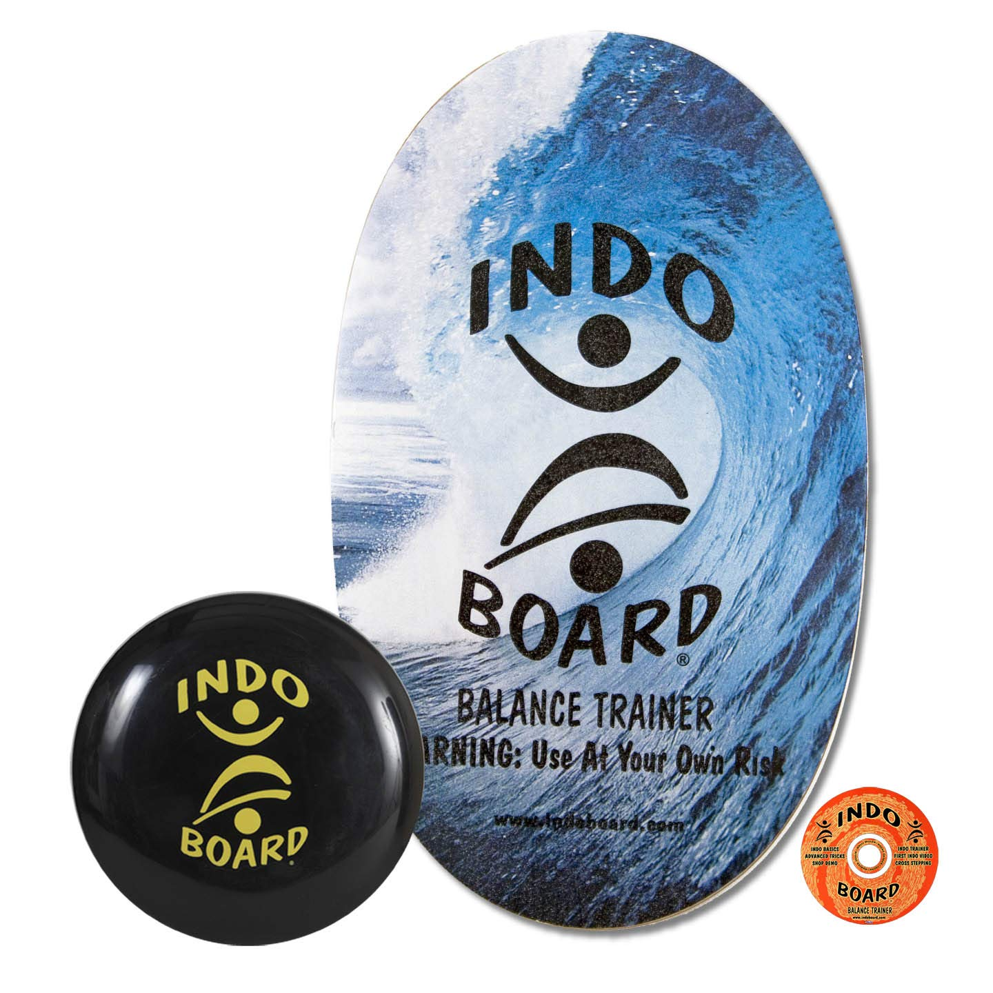 Indo Boardバランスボード元withクッション  ウェーブ B007R1DY1M