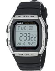 Casio Men's W96H-1AV Stainless Steel Sport Watch with Black Band