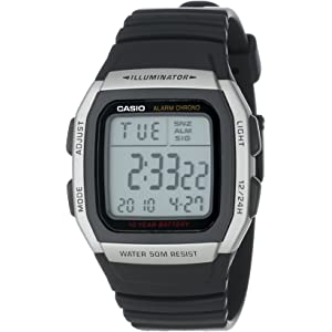 Casio Mens W96H-1AV Sport Watch with Black Band