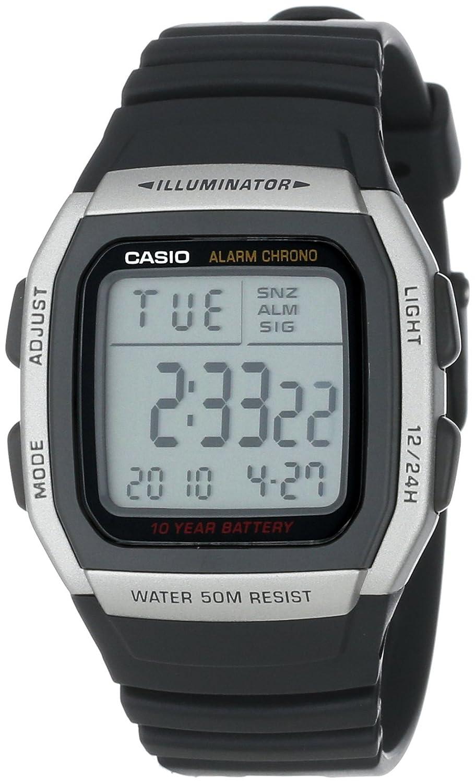 Casio Men s W96H-1AV Sport Watch with Black Band