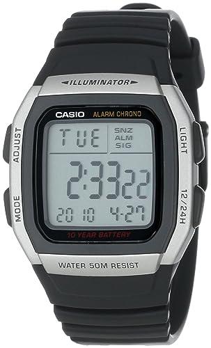 Casio Mens W96H-1AV Sport Watch with Black Band