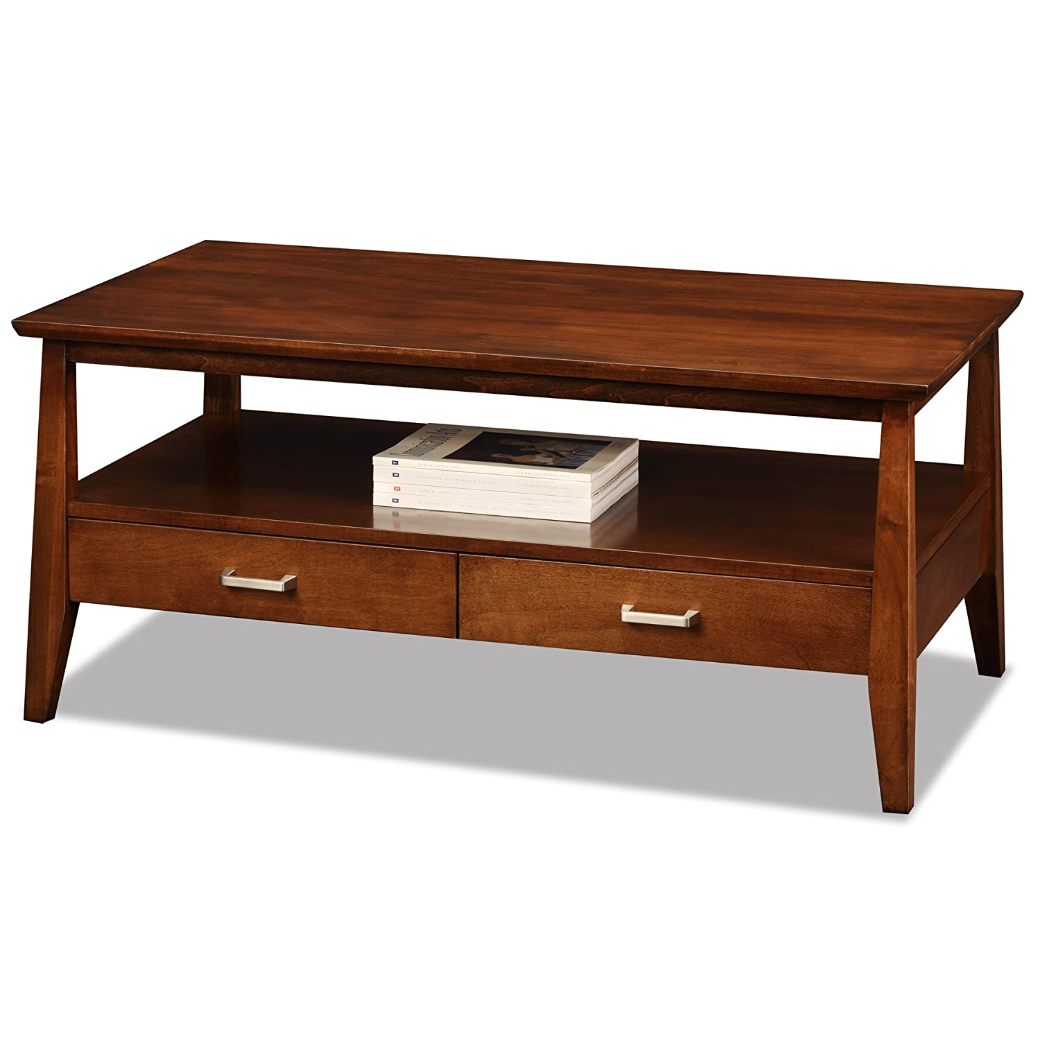 Amazon Leick Delton Two Drawer Coffee Table Kitchen & Dining