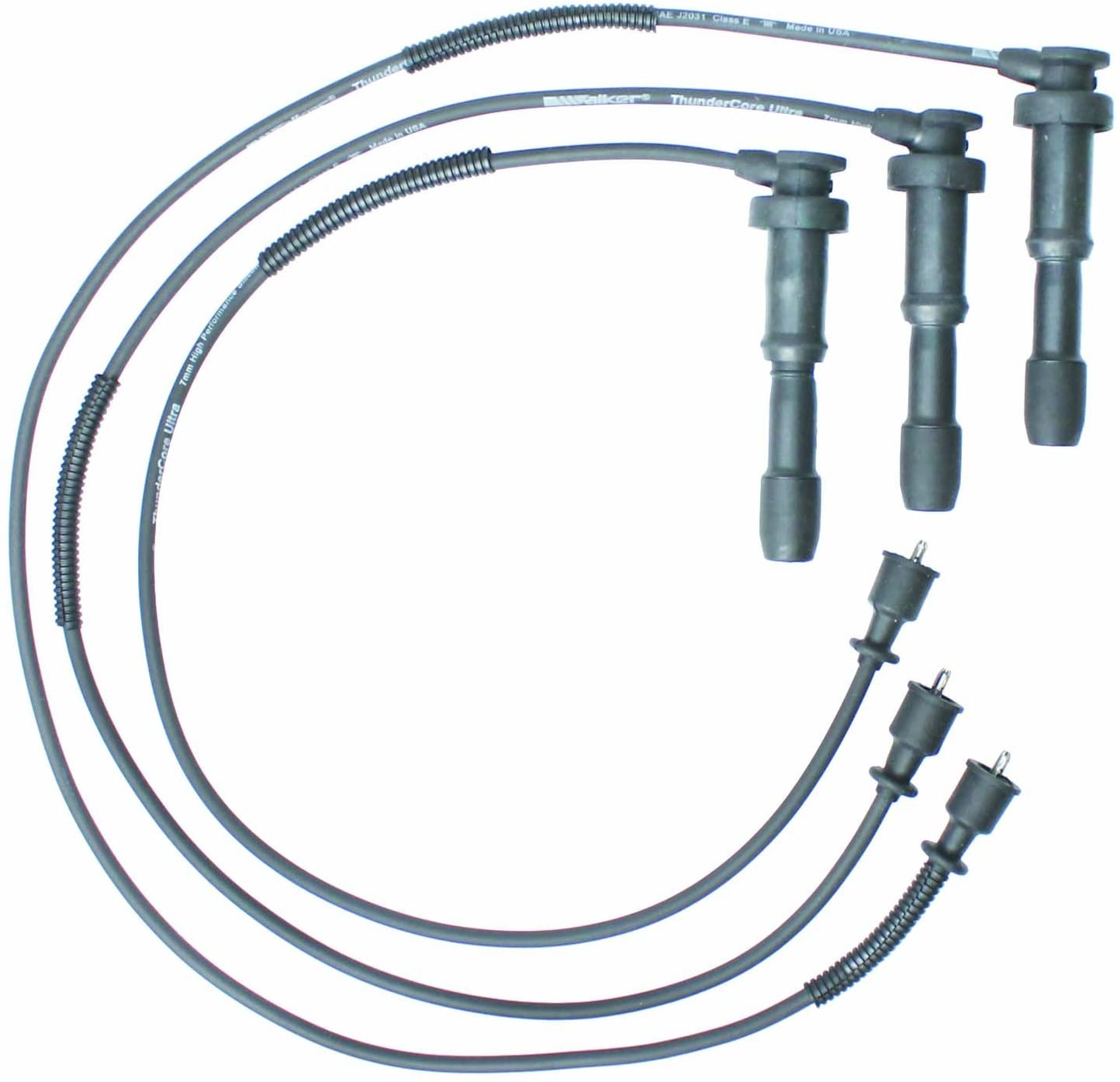 Walker Products 900-1858 Thundercore Ultra Spark Plug Wire Set