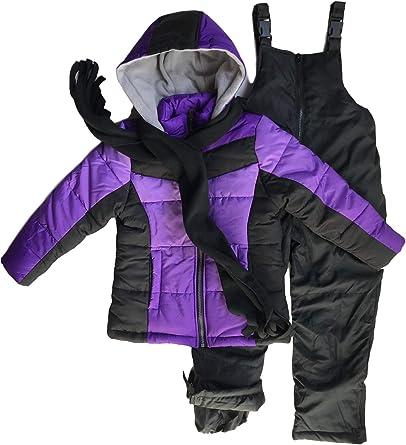 Snowsuits for Kids Girls 3-Piece Fleece Lined Active Snowsuit