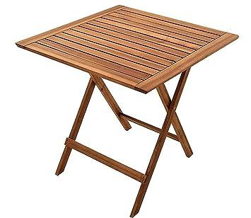 Amazon De Sam Gartentisch 60x60 Cm Blossom Klappbar Akazien Holz